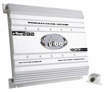 Lanzar (VIBE232) Vibe 1200 Watts 2 Channel Mosfet Amplifier