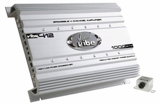 Lanzar (VIBE412) Vibe 1000 Watt 4 Channel Mosfet Amplifier