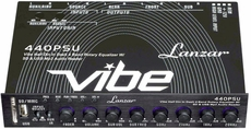 Lanzar (VIBE440PSU) Vibe Half DIN-In Dash 4 Band Rotary Equalizer w/ SD & USB MP3 Audio Reader