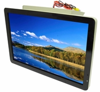 AcceleVision (LCDB19W) Fixed Base Overhead LCD Monitor for Bus, Permanent, or Display Use
