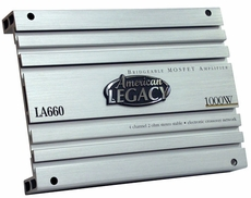 Legacy (LA660) 4 Channel 1000 Watt Bridgeable MOSFET Amplifier