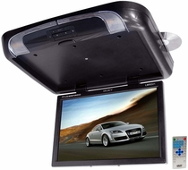 Legacy (LMRD21) TFT Flip Down Roof Mount W/ Built-In DVD/SD/USB Player/Wireless FM Modulator & IR Transmitter