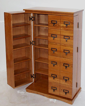 Exceptionnel Leslie Dame (CD 612LD) Mission Style Library Door Multimedia Cabinet   Dark  Oak
