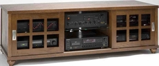 Leslie Dame (TVSD-60WAL) Mission Style Plasma Television Stand - Walnut