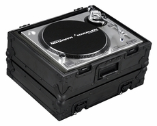 Marathon (MA-1200BLK) Black Series Heavy Duty Turntable Case with Full Removable Cover