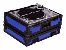 Marathon (MA-1200BLKBLUE) Blue-Black Series Heavy Duty Turntable Deluxe Case with Full Removable Cover