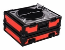 Marathon (MA-1200BLKRED) Red-Black Series Heavy Duty Turntable Deluxe Case with Full Removable Cover