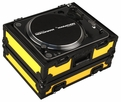 Marathon (MA-1200BLKYLW) Black & Yellow Series Heavy Duty Turntable Deluxe Case fits Technics 1200 & All other brand turntables such as: Numark, Stanton, Gemini, Vestax - Full Removable Cover