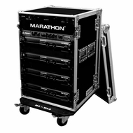 Marathon (MA-18UADW) 18U Amplifier Deluxe Case with Wheels