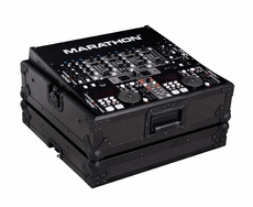 "Marathon (MA-19MIXBLK) Black Series 19"" DJ Mixer Case with 8 Rack Spaces with Rack Mount"
