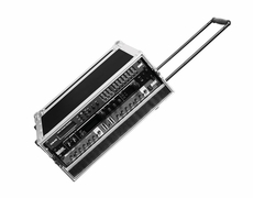 Marathon (MA-3UEDHW) 3U Effect Deluxe Case with Pull Out Handle and Wheels