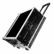 "Marathon (MA-4UADHW) 4U Amplifier Deluxe Case, 18"" Body Depth with Pull-Out Handle and Wheels"