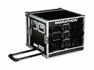 Marathon (MA-8UADHW) 8U Amplifier Deluxe Case, 18 Body Depth with Pull-Out Handle and Wheels