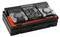"Marathon (MA-CDJ10V2BLK) Black Series Coffin Holds 2 x Small Format CD Players: CDJ-400 Plus 10"" Mixer: Pioneer DJM-400"