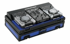 "Marathon (MA-CDJ10V2BLKBLUE) Blue-Black Series Coffin Holds 2 x Small format Cd Players Plus 10"" Mixer"