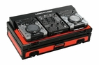 "Marathon (MA-CDJ10V2BLKRED) Red-Black Series Coffin Holds 2 x Small format Cd Players Plus 10"" Mixer"
