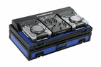 Marathon (MA-CDJ10WV2BLKBLUE) Blue - Black Series Coffin Holds 2 x Small format CD Players