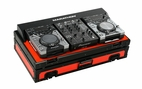 Marathon (MA-CDJ10WV2BLKRED) Red - Black Series Coffin Holds 2 x Small format CD Players