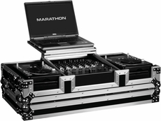Marathon (MA-CDJ12WLT) laptop coffin case holds 2 x small format cd players