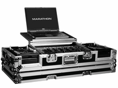 Marathon (MA-CDJ19WLT) laptop coffin case holds 2 x small format cd players