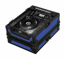 Marathon (MA-CDJ2000BLKBLUE) Blue-Black Series Case for Pioneer CDJ-2000 and All Other Large format CD/ Digital Turntables