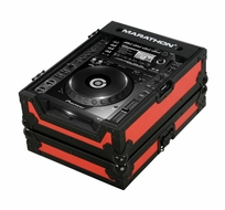 Marathon (MA-CDJ2000BLKRED) Red-Black Series, Case for Pioneer CDJ-2000, and All Other Large format CD/ Digital Turntables