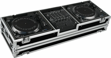 "Marathon (MA-DJ12W) HOLDS 2 TURNTABLES IN STANDARD STYLE POSITION W/ 12"" LOW PROFILE WHEELS"