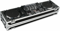 "Marathon (MA-DJ19W) HOLDS 2 TURNTABLES IN STANDARD STYLE POSITION WITH 19"" MIXER W/ LOW PROFILE WHEELS"