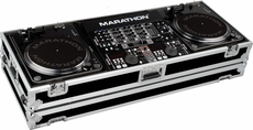 Marathon (MA-DJ19WB) HOLDS 2 TURNTABLES IN BATTLE STYLE POSITION