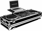 "Marathon (MA-DJ19WLTB) BATTLE Holds 2 Turntables in Battle Style position with 19"" Mixer w/ Wheels & Laptop Shelf"
