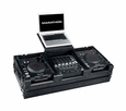 "Marathon (MA-DJCD12WLTBLK) Black Series Coffin with Wheels and Laptop Shelf, Holds 2 Large CD Players and 12"" Mixer"