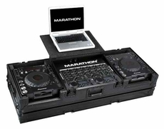 Marathon (MA-DJCD19WLTBLK) Black Series Coffin Holds 2 x Large Format CD Players