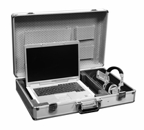Marathon (MA-ELTSSILVER) Elight Series Laptop Case with Side Storage