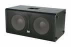 "Marathon (MA-ENT218V2) Texture Coated Dual 18"" Subwoofer System - Entertainer Series"