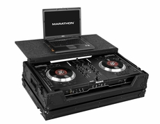 Marathon (MA-NS7LTBLK) Black Series Case to Hold 1 x Numark Ns7 Serato Itch Controller Plus Laptop Shelf