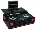 Marathon (MA-NS7WLTBLKRED) Red-Black Series to Hold 1 x Numark NS7 Serato Itch Controller Plus Laptop Shelf