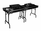 Marathon (MA-TABLEV2) Double Universal Fold out Dj Table w/ Low Profile Wheels