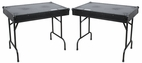 "Marathon (MA-TABLEV2BLK) ""Black Series"" Double Universal Fold Out DJ Table (36""W X 21""D X 30""H Per Table) with Low Profile Wheels"
