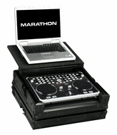 Marathon (MA-VCILTBLK) Black Series Case to Hold 1 x Vestax VCI-300 Music Controller Plus Laptop Shelf