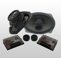 Massive Audio (CK 69X) 2-way Kit, 250-500w Max, Cast basket / 28mm Silk Dome Tweeter