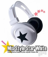 Mix-Style (H003) Star White Headphones