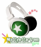 Mix-Style (H008) Star Green Headphones
