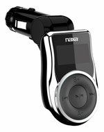 Naxa (NA-3030) MP3/ WMA FM Modulator/ Transmitter with LCD Screen, USB & SD Inputs & Built-In 4GB Flash Memory