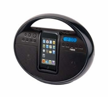 Naxa (NI-3105) Portable AM/ FM Stereo Radio with Dock for iPod and iPhone