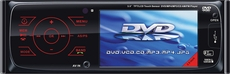 "O2 Audio (MP-3500 DVD) Single-Din In-Dash CD, MP3, WMA, MPEG4, AM/ FM Receiver with 3.5"" TFT Color LCD Screen and USB/ SD Card Slot"
