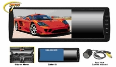 """Performance Teknique (ICBM-9284) 7"""" TFT Monitor, Clip-on Mirror with Night Vision Camera, Hands-Free Communication and Caller ID"""