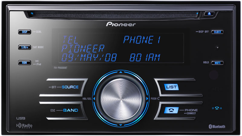 pioneer fh p8000bt double din cd receiver with built in bluetooth rh midtownsounds com