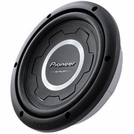 """Pioneer (TS-SW2501S4) 10"""" Shallow-Mount Subwoofer with 1200 Watts Max. Power"""