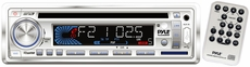 Pyle (PLCD36MRW) AM/FM-MPX IN-Dash Marine CD/MP3 Player/Weatherband/USB & SD Card Function