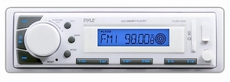 Pyle (PLMR20W) Marine In-Dash Receiver with AM/FM Radio, AUX Input for iPod/MP3 Players & SD/USB Memory Readers